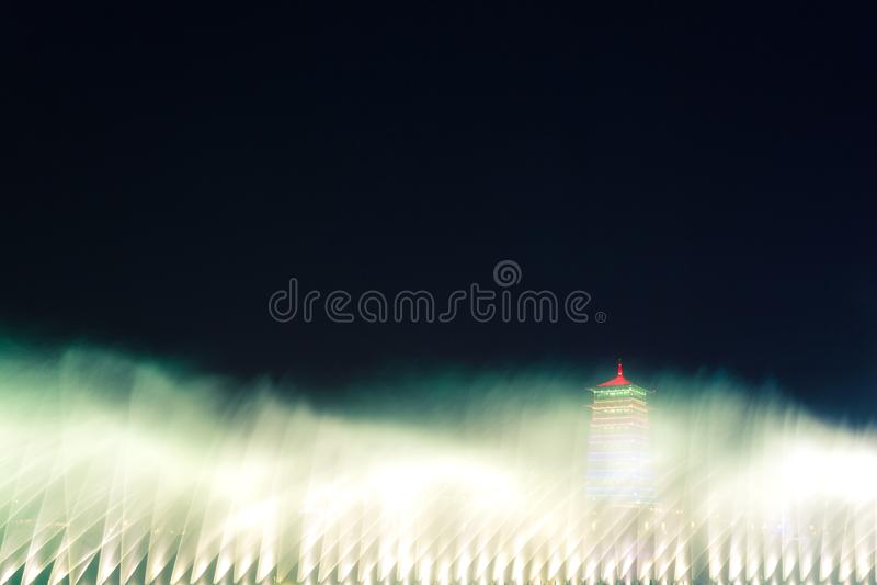 Torretta di ChangAn Ci? ? sito orticolo internazionale dell'Expo di Xi'an, torre changan Stazione turistica immagini stock libere da diritti