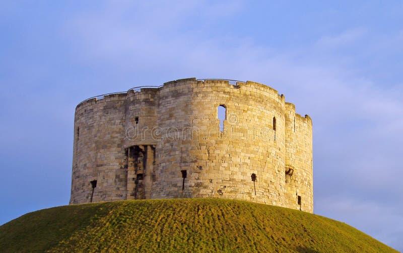 Torretta di Cliffords, York fotografie stock