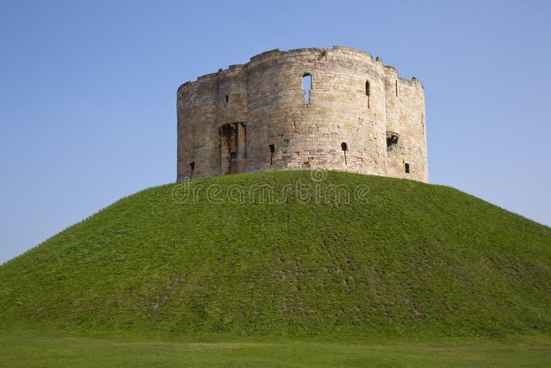 Torretta di Cliffords - York - Inghilterra immagini stock
