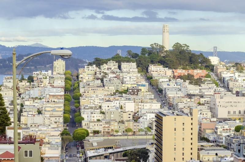 Torretta di Coit, San Francisco fotografia stock