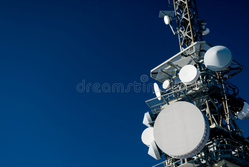 Torretta di comunicazione immagini stock libere da diritti
