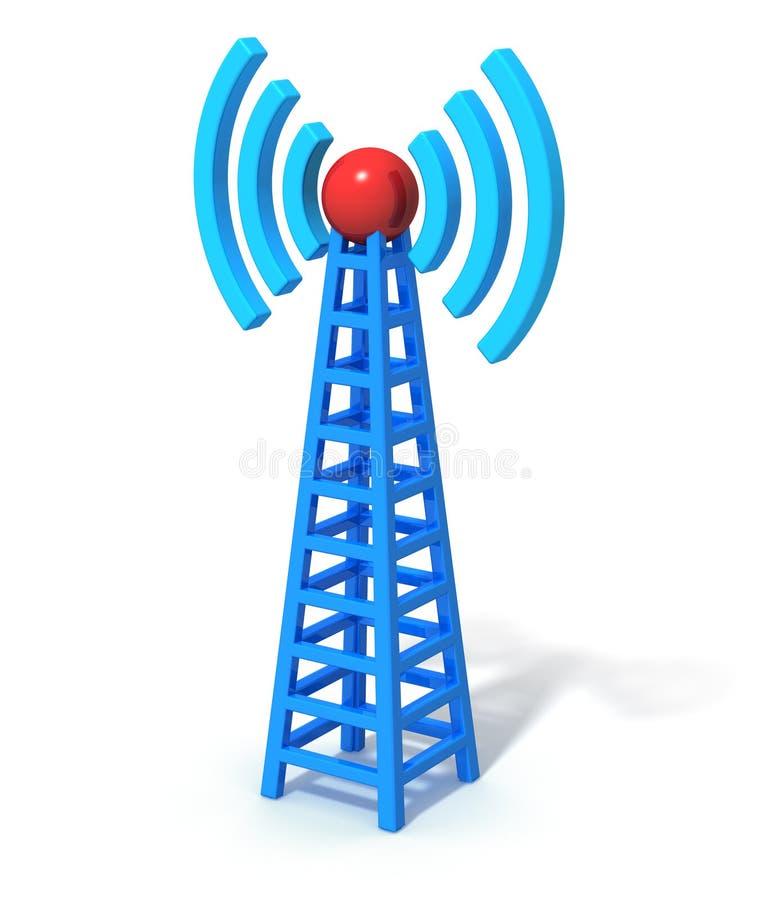 Torretta di comunicazione senza fili illustrazione di stock