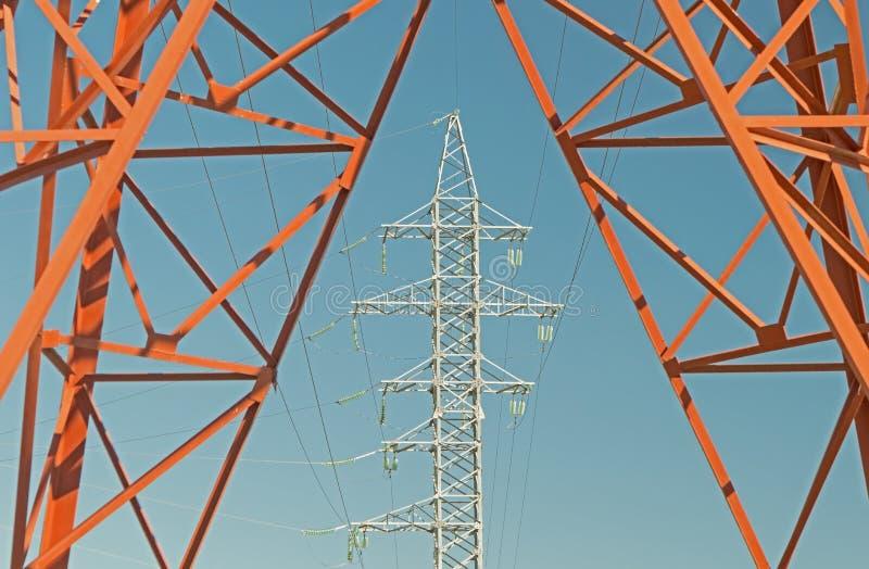 Torretta di elettricità immagine stock