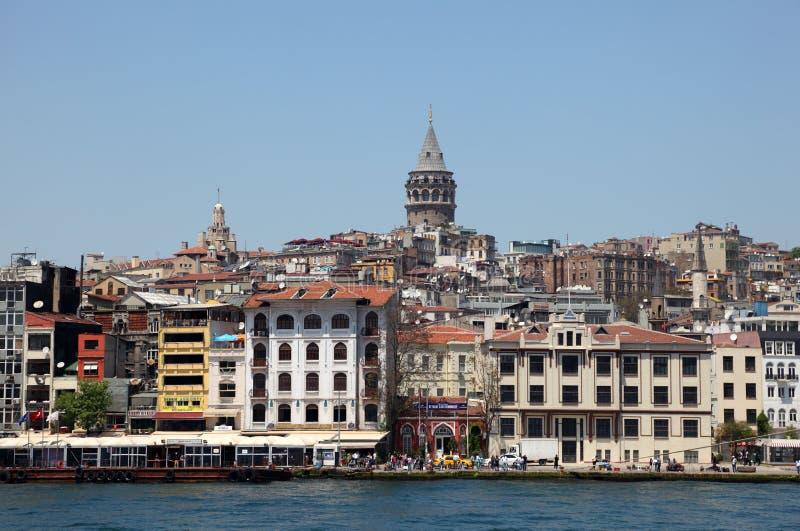 Torretta di Galata a Costantinopoli, Turchia fotografie stock libere da diritti