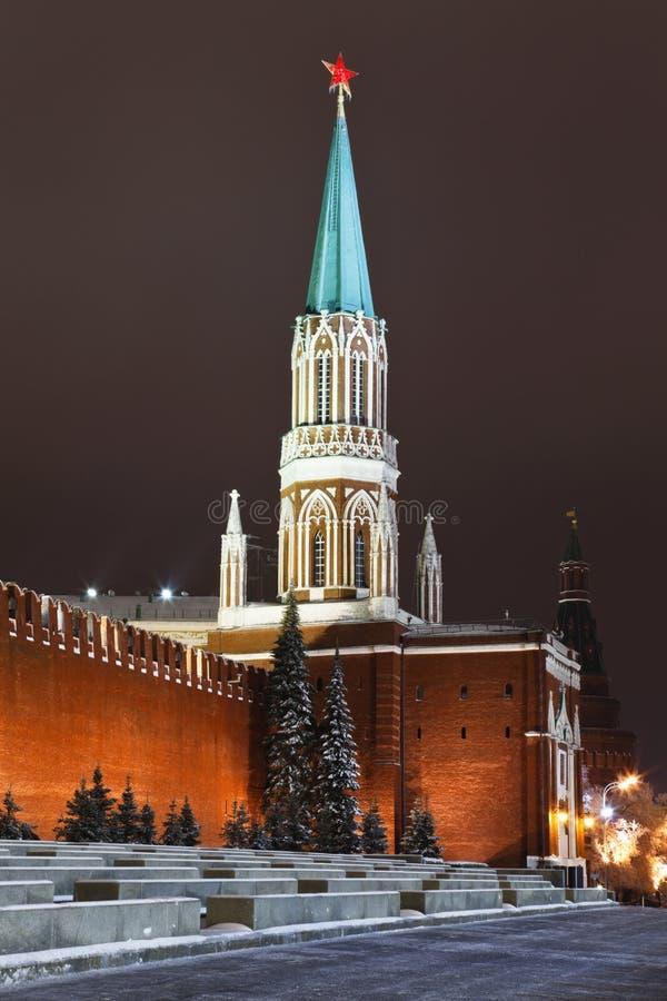 Torretta di Nikolskaya di Mosca Kremlin, Russia fotografia stock