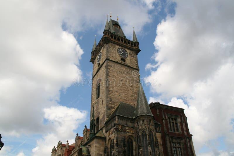 Torretta di orologio astronomica di Praga fotografia stock