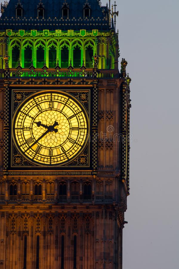 Torretta di orologio del grande Ben a Londra fotografia stock
