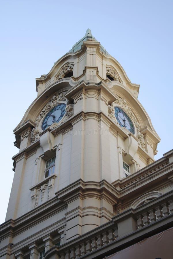 Torretta di orologio dell'ufficio postale - Porto Alegre - Brasile fotografia stock