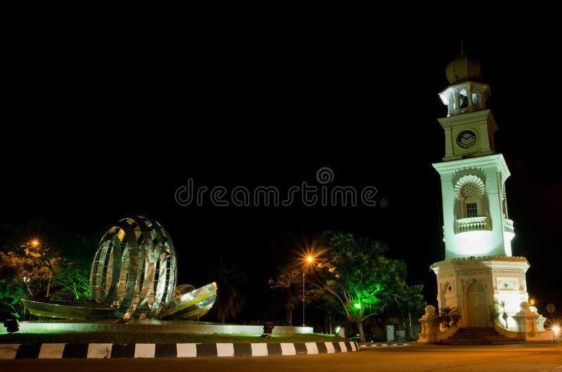 Torretta di orologio della regina Victoria di Penang immagini stock
