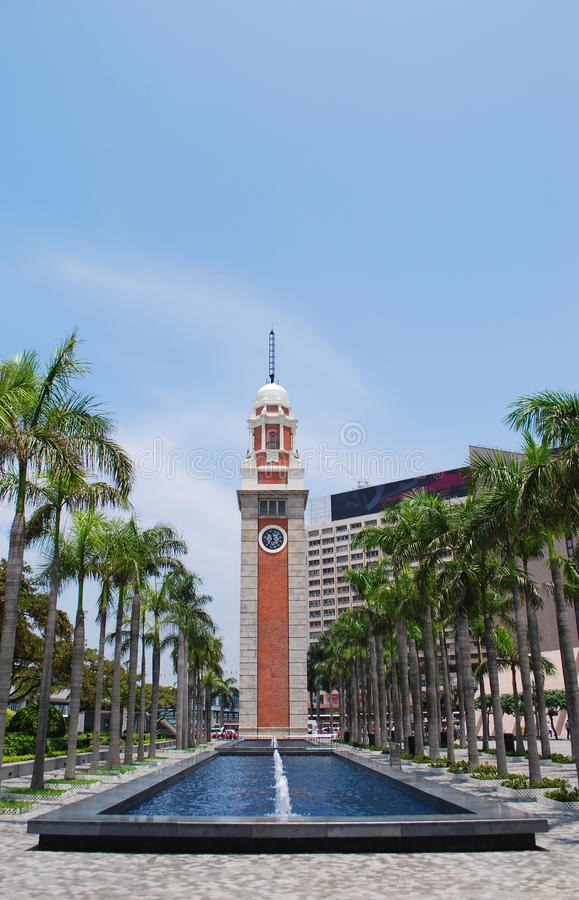 Torretta di orologio di Hong Kong fotografia stock