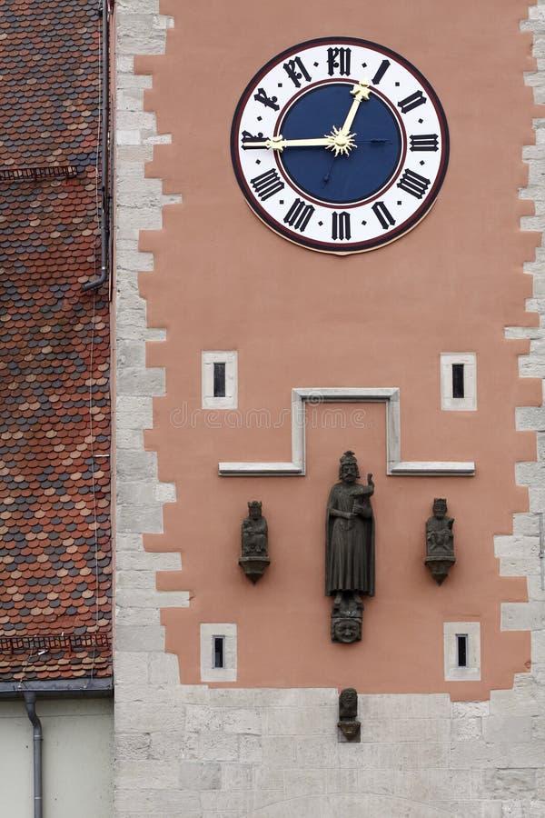 Torretta di orologio di Regensburg immagini stock
