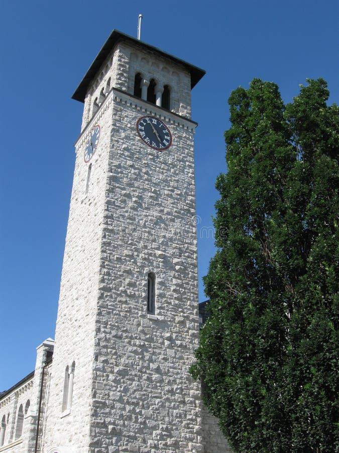 Torretta di orologio Kingston, Ontario fotografie stock libere da diritti