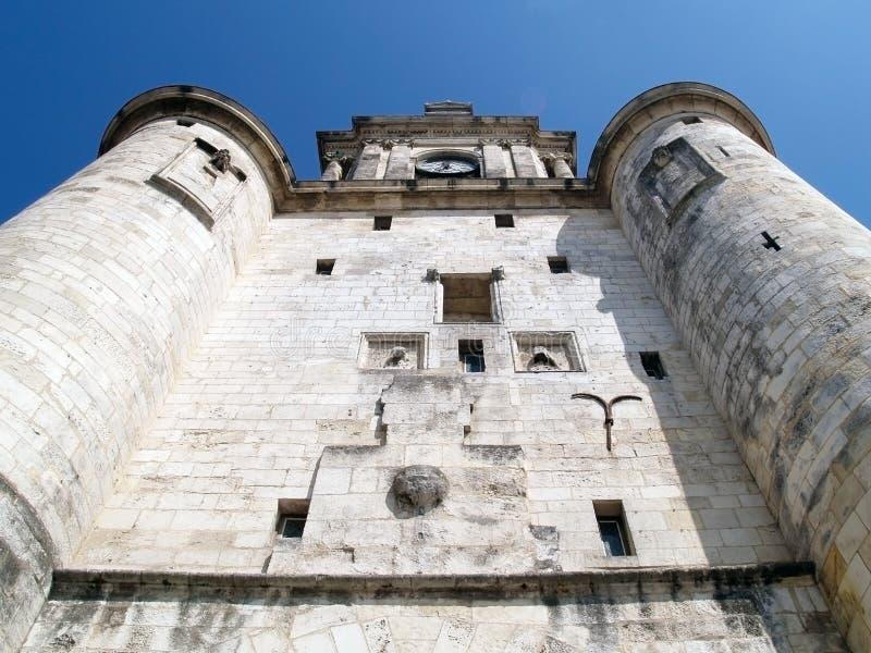 Torretta di orologio, La Rochelle, Francia fotografia stock