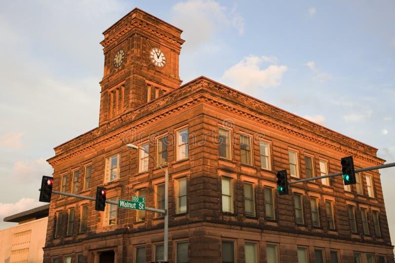 Torretta di orologio a Rockford fotografia stock libera da diritti
