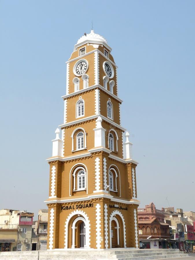 Torretta di orologio Sialkot fotografia stock libera da diritti