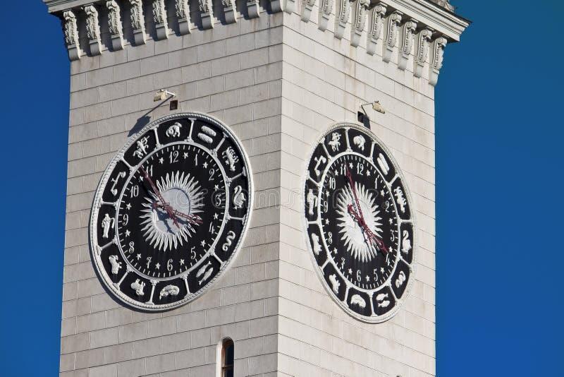 Torretta di orologio a Sochi fotografie stock libere da diritti