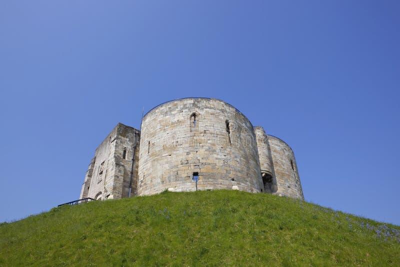 Torretta di pietra medioevale fotografia stock