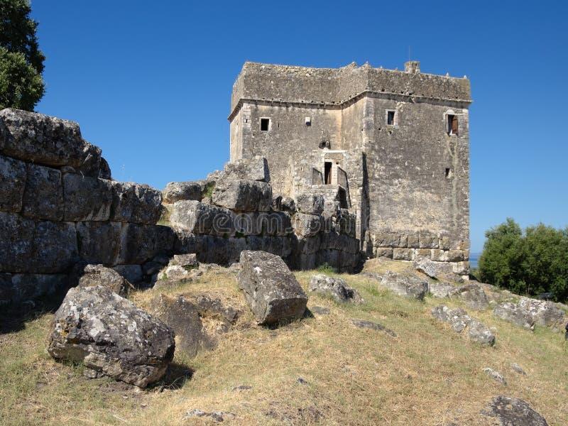 Torretta di Ragio, Igoumenitsa, Grecia fotografia stock libera da diritti