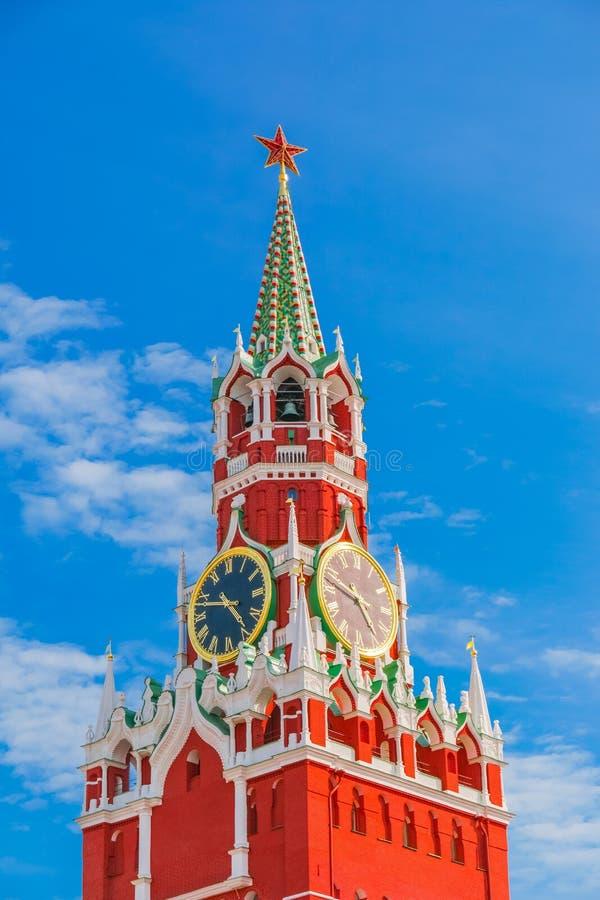 Torretta di Spasskaya di Mosca Kremlin fotografia stock libera da diritti