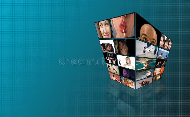 Torretta di Tchnology TV illustrazione di stock