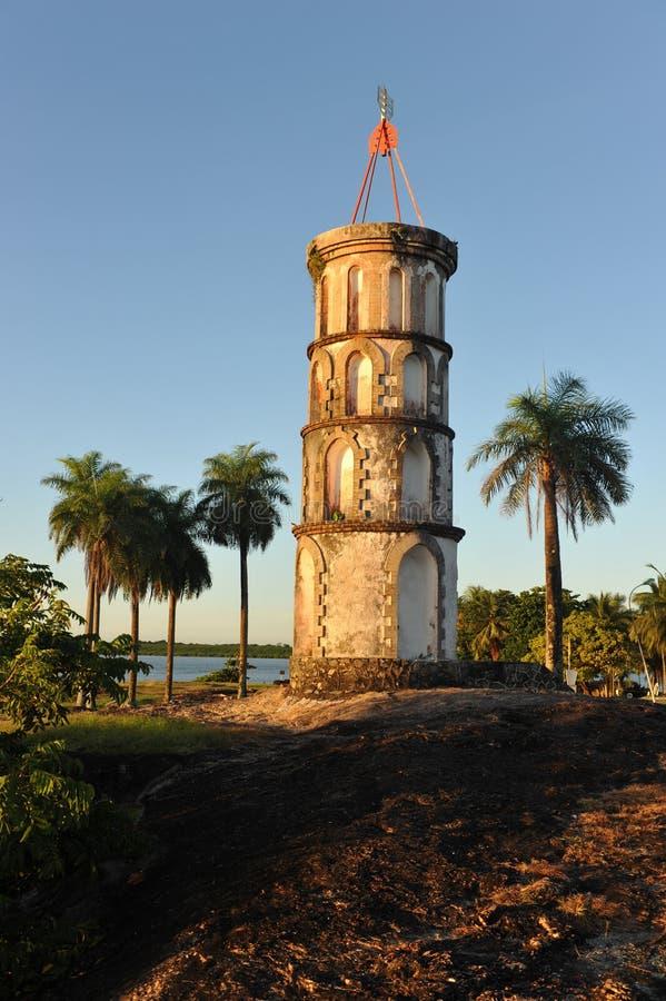 Torretta in Kourou, Guiana francese del Dreyfus. immagini stock libere da diritti