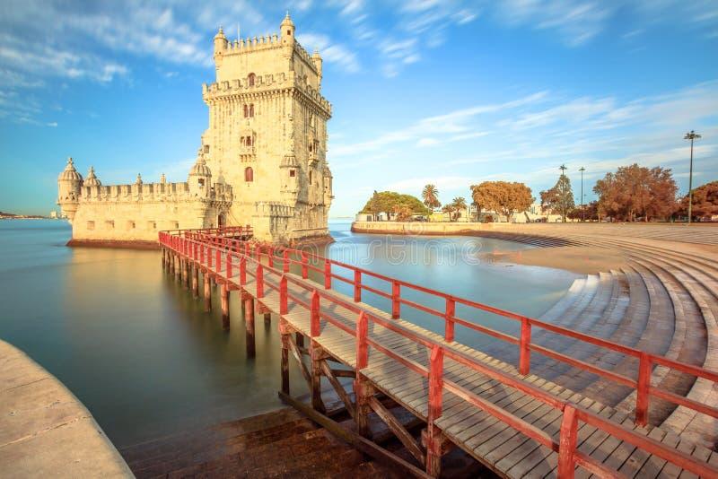 Torretta Lisbona di Belem fotografia stock libera da diritti
