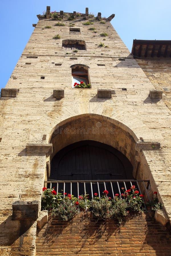 Torretta medioevale San Gimignano Italia del diavolo fotografia stock libera da diritti