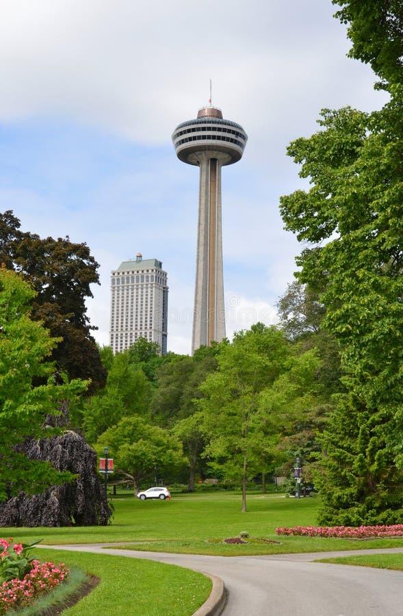 Torretta Niagara Falls di Skylon immagini stock