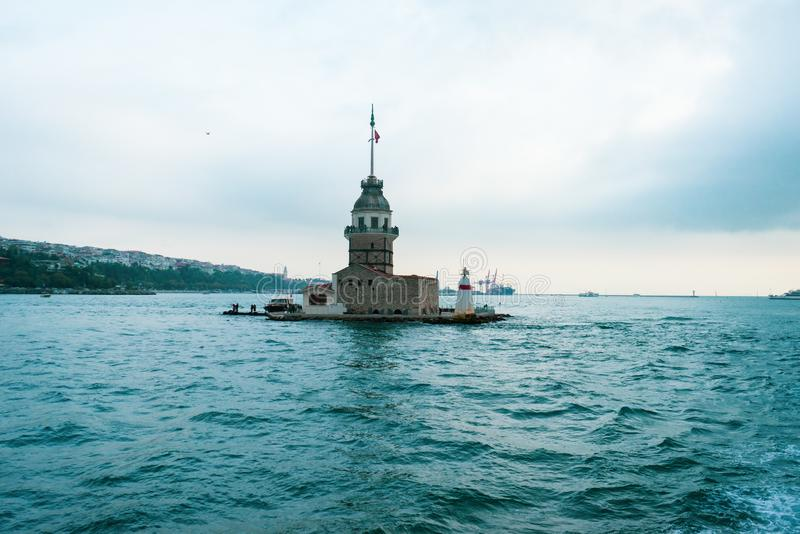 Torretta nubile del `s a Costantinopoli fotografia stock libera da diritti