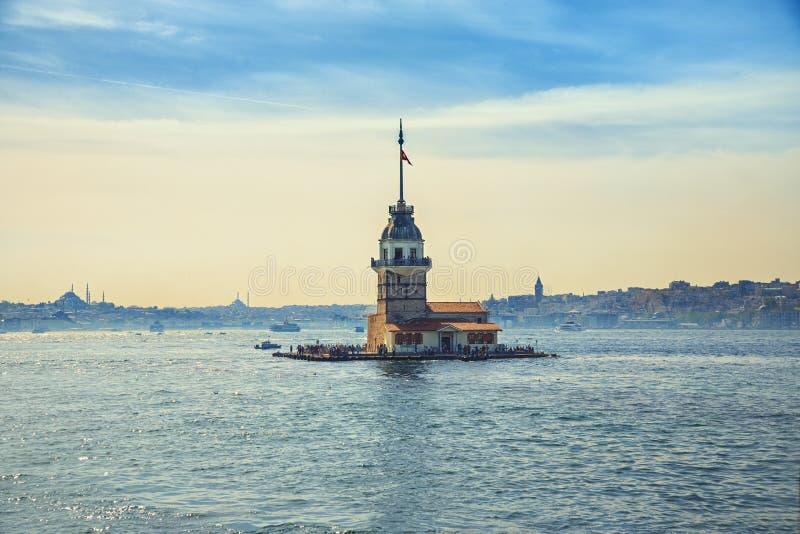 Torretta nubile del `s a Costantinopoli fotografia stock