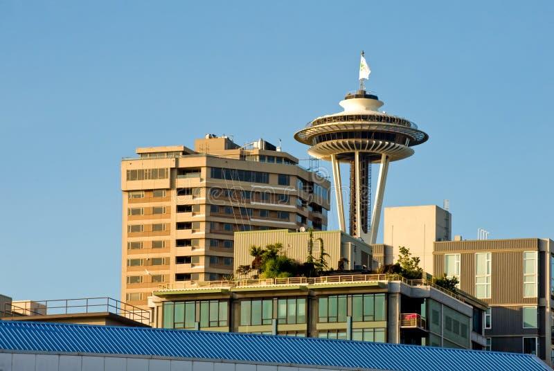 Torretta Seattle dell'ago dello spazio immagine stock