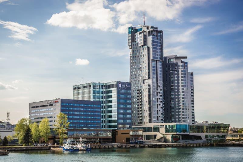 Torrette del mare a Gdynia immagine stock libera da diritti