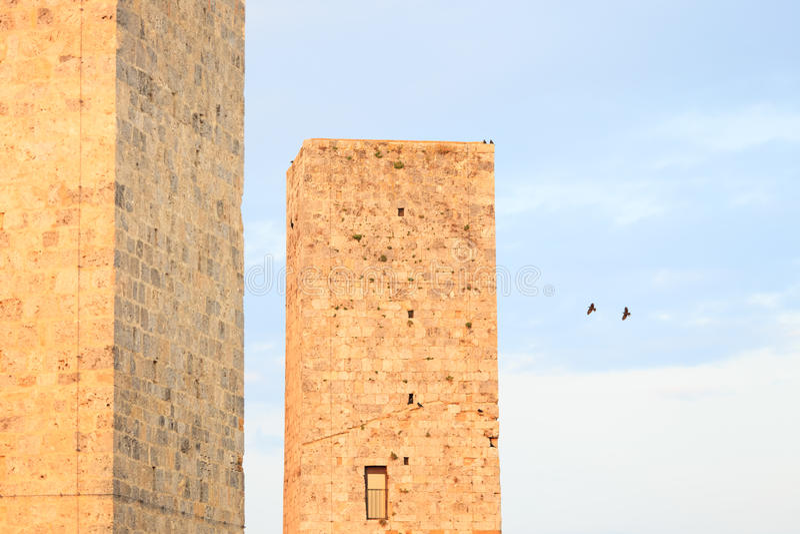 Torrette del San Gimignano. La Toscana, Italia, Europa fotografia stock libera da diritti