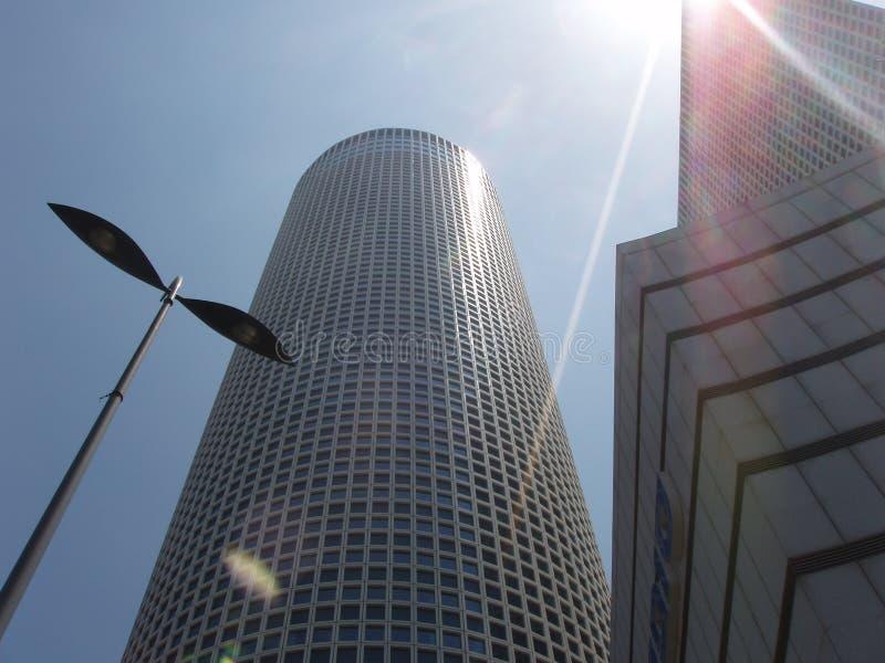 Torrette di Azrieli, Tel Aviv immagini stock