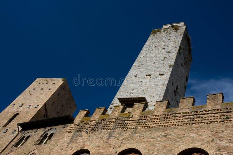 Torrette in San Gimignano fotografia stock