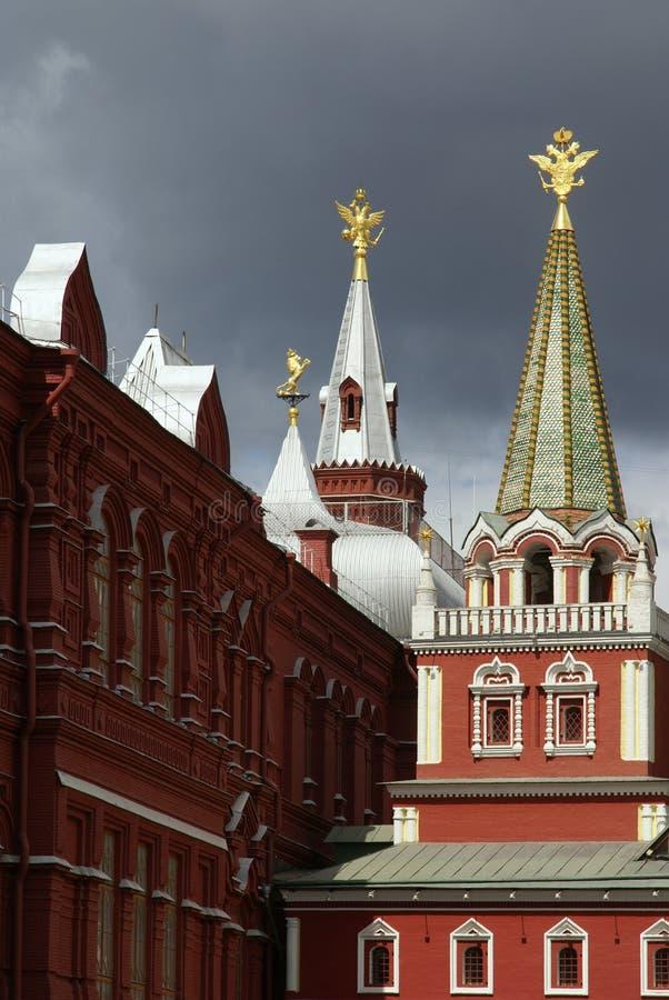 Torrette sul quadrato rosso, Mosca, Russia fotografia stock libera da diritti