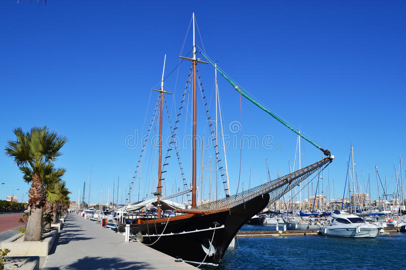 Torrevieja port stock photography