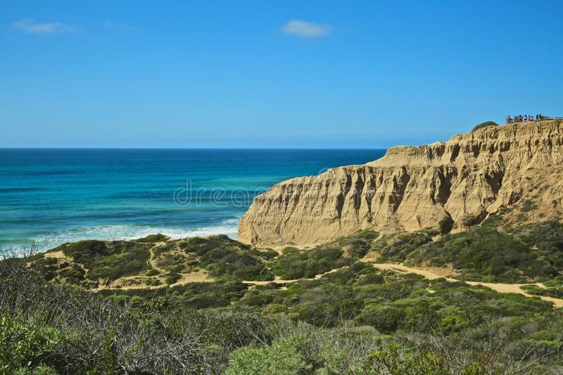 Torrey Pines Park state National Reserve Park cliffs stock images
