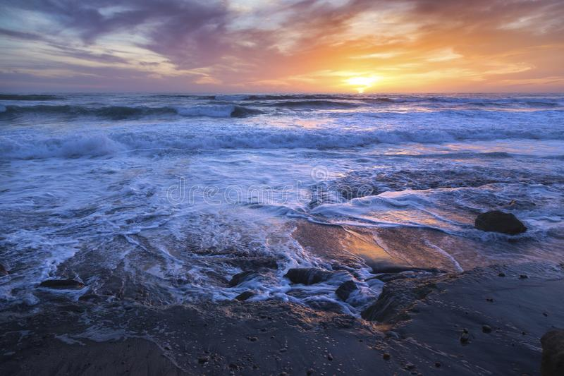 Torrey Pines State Beach Sunset royalty-vrije stock foto's