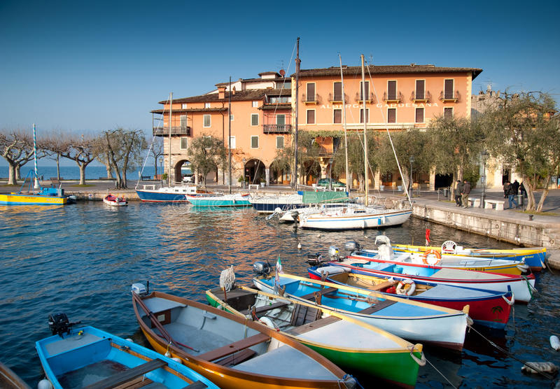 Torri del benaco. Is a municipality in the Province of Verona in the Italian region Veneto, located in the south-east coast of Lake Garda royalty free stock photography
