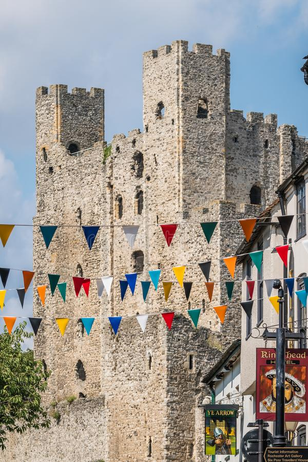 Torri del castello di Rochester fotografia stock libera da diritti