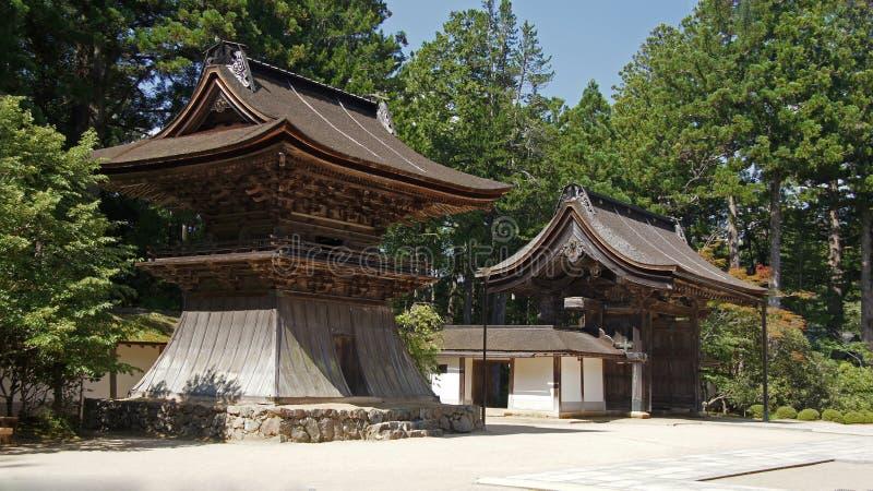 Torri del tempio di Kongobuji in Koyasan, Giappone fotografia stock libera da diritti