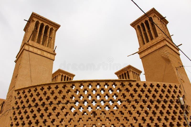 Torri del vento in Yazd, Iran immagine stock libera da diritti