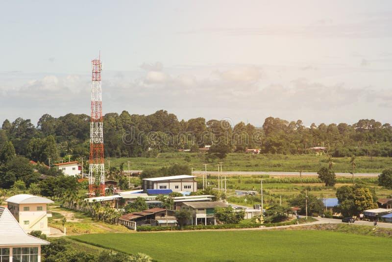 Torri delle Telecomunicazioni in Tailandia fotografia stock