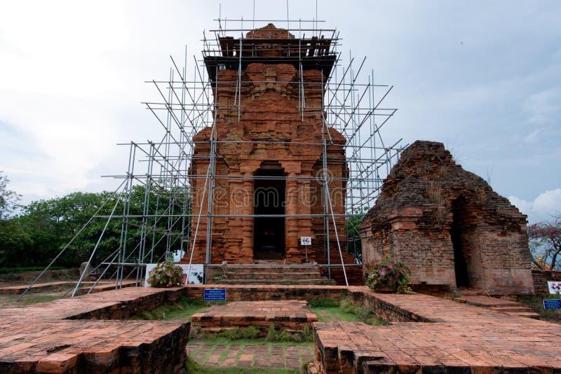 Torri di Cham, Phan Thiet, Binh Thuan fotografia stock libera da diritti