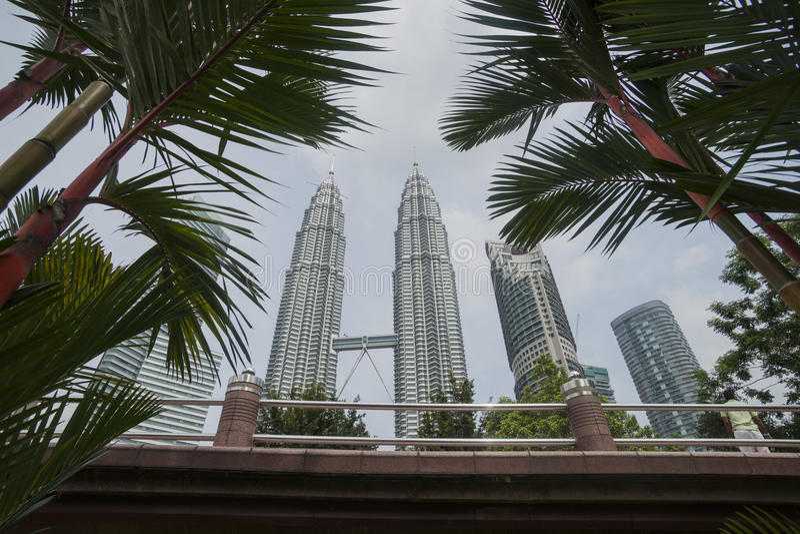 Torri di Petronas, Kuala Lumpur. immagine stock libera da diritti