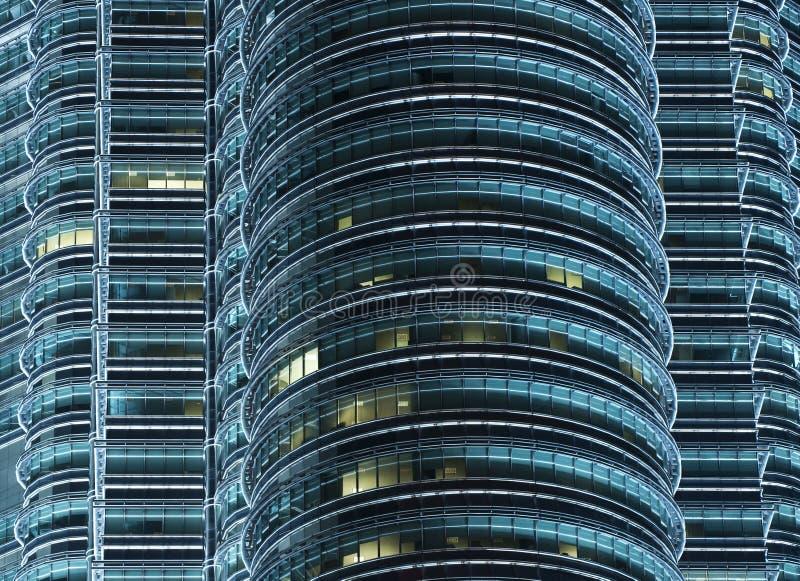 Torri gemelle di Petronas alla notte immagine stock libera da diritti
