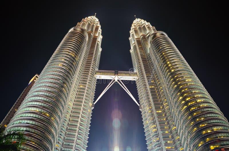 Torri gemelle Kuala Lumpur di Petronas immagini stock