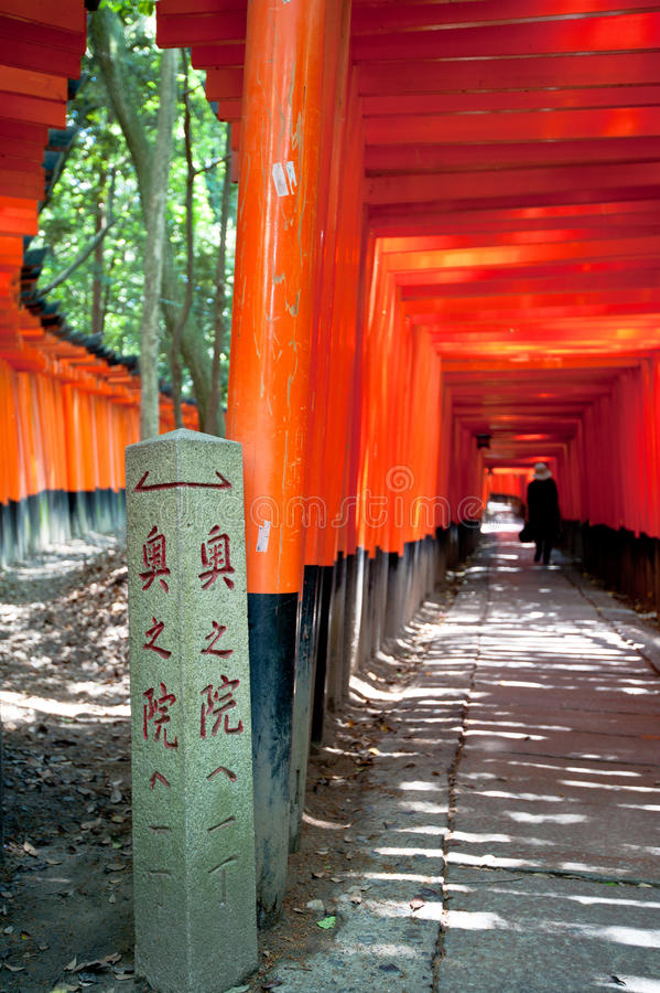 Torri In Kyoto Royalty Free Stock Photography