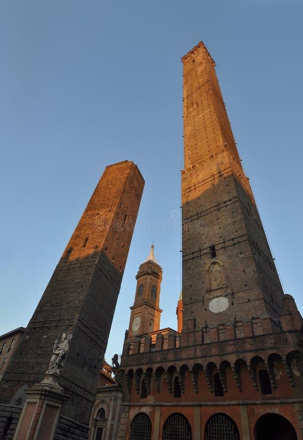 Torri medievali a Bologna immagine stock libera da diritti